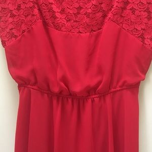 ASOS Maternity Red Dress with Lace Detail size 8